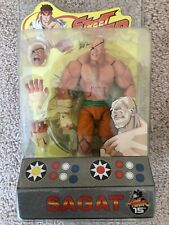 "SOTA Toys Street Fighter Sagat Orange Variant 6"" Action Figure Limited MOSC Ryu"