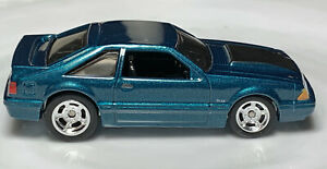 Hot Wheels Fast & Furious '92 Ford Mustang Green 1/64 Real Riders Diecast Loose