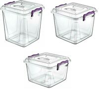 Heavy Duty Plastic Pantry Box Lid Clip Lock Food Container Storage Box Organiser