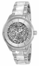 Invicta Women's Watch Angel Quartz Silver Tone Crystal Dial Bracelet 25246