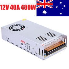 AC100-240V To DC 12V 40A 480W Power Supply Adapter Led 5050 3528 RGB Converter