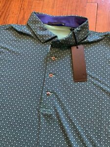 NEW Greyson Backbone Golf Polo Palm GREEN Style Men's XL