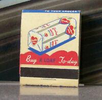 Rare Vintage Matchbook Z6 Minneapolis Minnesota Sweetheart Heart Bread Colorful