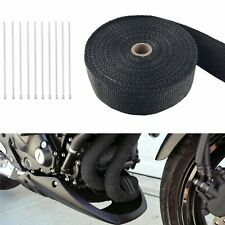 "2"" 50FT Roll Fiberglass Exhaust Wrap Header Pipe Heat Tape Black + 10 Ties"