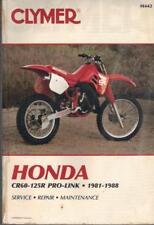 Honda CR125 R, CR80 R, CR60 R, Pro-link, Motocross Clymer Manual 1981-1988