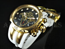 Invicta RESERVE 52mm Venom VIPER Swiss Movt Chronograph 18K Gold IP WHITE Watch