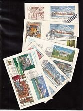 #Ux119, ,143, & 144 (5) Different Collins Hand Painted Fdc Postcards Br682