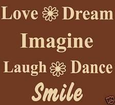 WALL ART VINYL LETTERS, WALL DECOR, LOVE DREAM IMAGINE