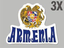 3 Armenia shaped sticker flag crest decal car bike Stickers vinyl CN041