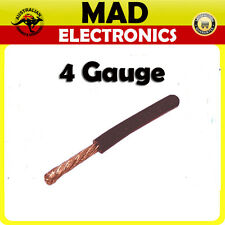 1M x 4 Gauge AWG Car Subwoofer AMP Wiring Wire Power Cable 110Amp Black