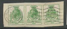 Gb 1929 Puc Perfin Primer Día De Emisión... 1/2d X 3 Piezas Manchester... dBm
