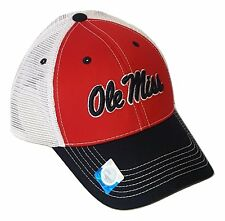 buy popular 8fdd7 fd6b2 Ole Miss Rebels Hat Mesh Trucker Snapback Cap NCAA