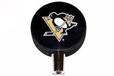 Pittsburgh Penguins Basic Logo NHL Hockey Puck Beer Tap Handle