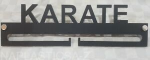 Medal Hanger Display Holder KARATE Different Colours Acrylic with fixings