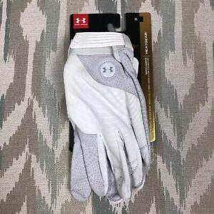 Under Armour HeatGear HARPER PRO Adult Batting Gloves White Size XL 1341981-100