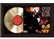 "Wutang Framed Cherry wood Reproduction Signature LP Display. ""M4"""