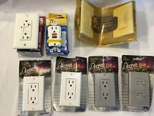 Lot of Electrical Supplies 2 Gfi Gfci, Decora Outlets Switches, Digital Dimmer