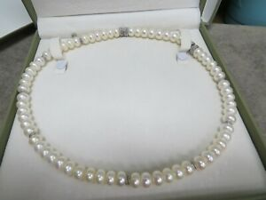 Judith Ripka Sterling Strand Pearl Interchangeable Magnetic Necklace, with boxes