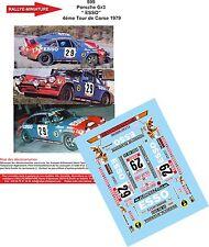 """DÉCALS  1/18 réf 599 Porsche Gr3 """" ESSO"""" COPPIER/ LOLOZ 4éme Tour de Corse 1979"""