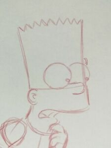 Bart Production Drawing The Simpsons Art Animation Memorabilia TV Character Cel
