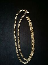 "10kt Solid Gold Figero Chain 23"" 7grams 4mm"