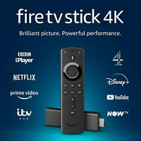 Amazon 4K Fire TV Stick With Alexa Voice Remote UK Ver Ultra HDR Steaming Media.