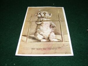 VINTAGE POSTCARD ART SIGNED MAC SEALHEAM TERRIER DOG TAILWAGGER SERIES