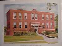 Bunker Hill School, St. Marys OH, LE by Marge Brandt, 11x15, old country brick