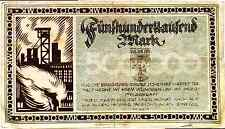 1923 Germany BOBLINGEN 500.000 Mark Banknote