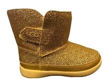 UGG GIRL'S KELLAN GLITTER BOOT SHOE GOLD KIDS TODDLER SIZE 7 ADORABLE $64.95