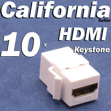 10 HDMI Keystone Coupler Adapter insert Jack Wall Plate Female Female Connector