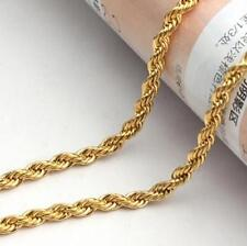 Lot 5pcs Bulk Gold Stainless steel Singapore twisted chain Necklace 4mm 21.6''