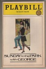 "Bernadette Peters  ""Sunday in the Park With George""   Playbill  1984   PREVIEW"