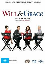 Will and Grace Series 1-9 Box Set DVD Region 4 NEW