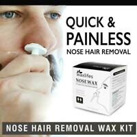 Mens Nose Hair Removal Wax Beads Kit Nasal Ear Hairs Painless Effective Z5T5