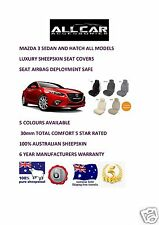 Sheepskin Car Seatcovers for Mazda 3 , Five colours, Seat Airbag Safe 30mmTC