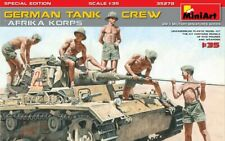 "Miniart 35278 - 1/35 German Tank Crew ""Africa Corps"" Scale Plastic Model Kit"