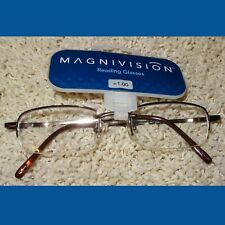 Reading Glasses Readers Magnivision Brown Wire +1.00 NWT #34 $17.99 Retail JB