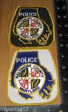 Baltimore County Maryland Police Department Cloth Patches Only **READ**