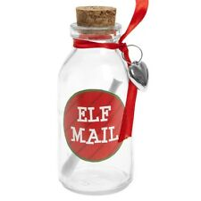 """4"""" Write Your Own Elf Mail Message In A Bottle Festive Gift Cork Christmas Shelf"""