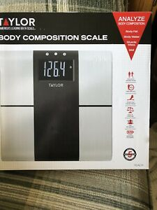 NIB TAYLOR Body Composition Scale, BMI, Muscle Mass, Battery Included, Weight