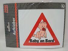 Aufkleber Baby an Bord 13 x 11,5 cm - Auto PKW Kfz Hinweisschild Achtung Dreieck
