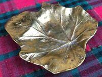 Vintage Virginia Metalcrafters Brass STAR BEGONIA Leaf tray/dish. #3-19, ©1948