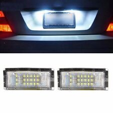 2 Pcs White 18 LED Error Free SMD License Plate Light For BMW E46 4D 5D Sedan