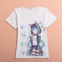 1pc Japan Anime Vocaloid Hatsune Miku T shirt Lolita Cosplay Tee Short Sleeve