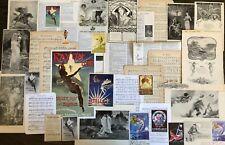 Vtg Fantasy Fairy&Mermaid Lot~Antique Paper Collage Craft Scrap Music Art Prints