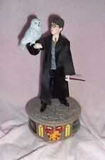 "XRARE-HANDSOME HARRY POTTER&HEDWIG OWL-9.5"" FIGURINE-BRADFORD EXCHANGE 2011"