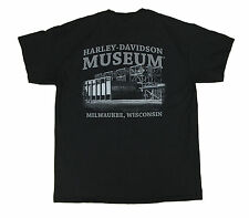 Harley Davidson Motorcycles Museum Milwaukee Skull L SS T Shirt Tee Cotton Black