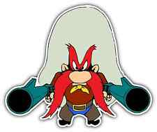 "Yosemite Sam Gun Kids Cartoon Car Bumper Window Locker Sticker Decal 4""X5"""