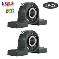 UCP204-12 Pillow Block Bearing 3/4 Inch Bore 2 Bolt Solid Base (2PCS) US Store